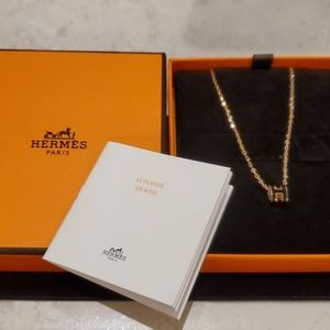 NWT-Rare Hermes Mini Pop H Rosegold pendant